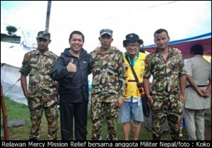Relawan Mercy Mission Relief didukung Militer Nepal/AMOK