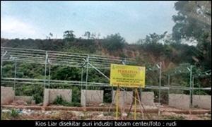 Kios Liar disekitar puri industri batam center/rudi