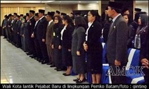 Wali Kota lantik Pejabat Baru di Pemko Batam/ginting