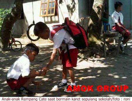 Anak-anak Rempang Cate Lestarikan Permainan Tradisional