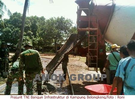 Tentara Masuk Desa Bangun Infrastruktur Kampung Belongkeng