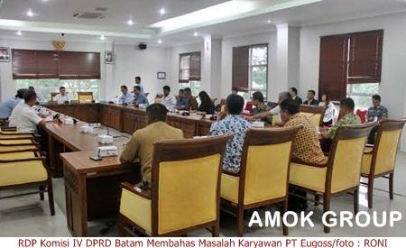 Hearing Komisi IV DPRD Batam Membahas Pembayaran Gaji Karyawan PT Eugoss