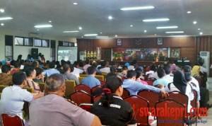Kapolresta Barelang Kombes Helmy Santika menyampaikan kata sambutan