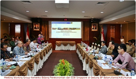 Meeting Working Group Kemenko Bidang Perekonomian dan EDB Singapore di Gedung Marketing Centre BP Batam