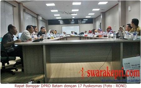 Data 17 Puskesmas Tidak Lengkap, Rapat Banggar DPRD Batam Ditunda