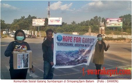 Banjir Garut dan Sumedang, Komunitas Sosial di Batam Galang Sumbangan