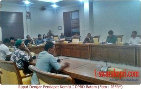 Rapat Dengar Pendapat Komisi I DPRD Batam