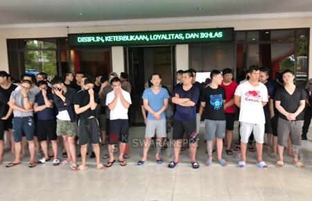 Diduga Terlibat Penipuan Online Polisi Ringkus 47 Wna Di Batam